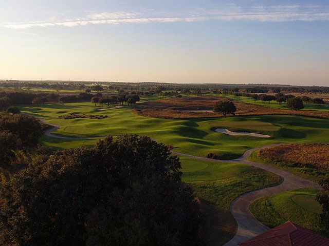 overhead view at Crooked Cat course